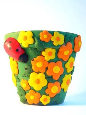 Как украсить цветочный горшок своими руками