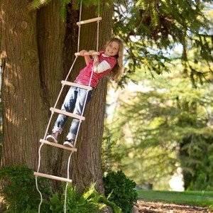 Веревочная лестница служит развлечением и тренировочным инструментом