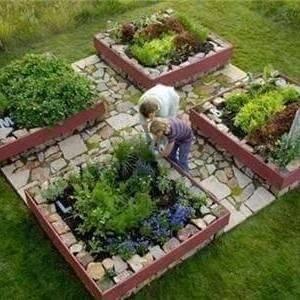 Планировать огород можно самому